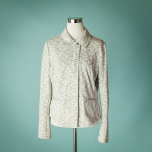 Cabi M Gray Neo Marled Terry Knit Moto Jacket